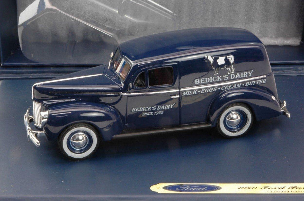 NEWES Ford Genuine Parts FGP0443 Ford Panel Van Van Van BEDICKS Dairy 1935 1 43 DIE CAST Model 640a3b
