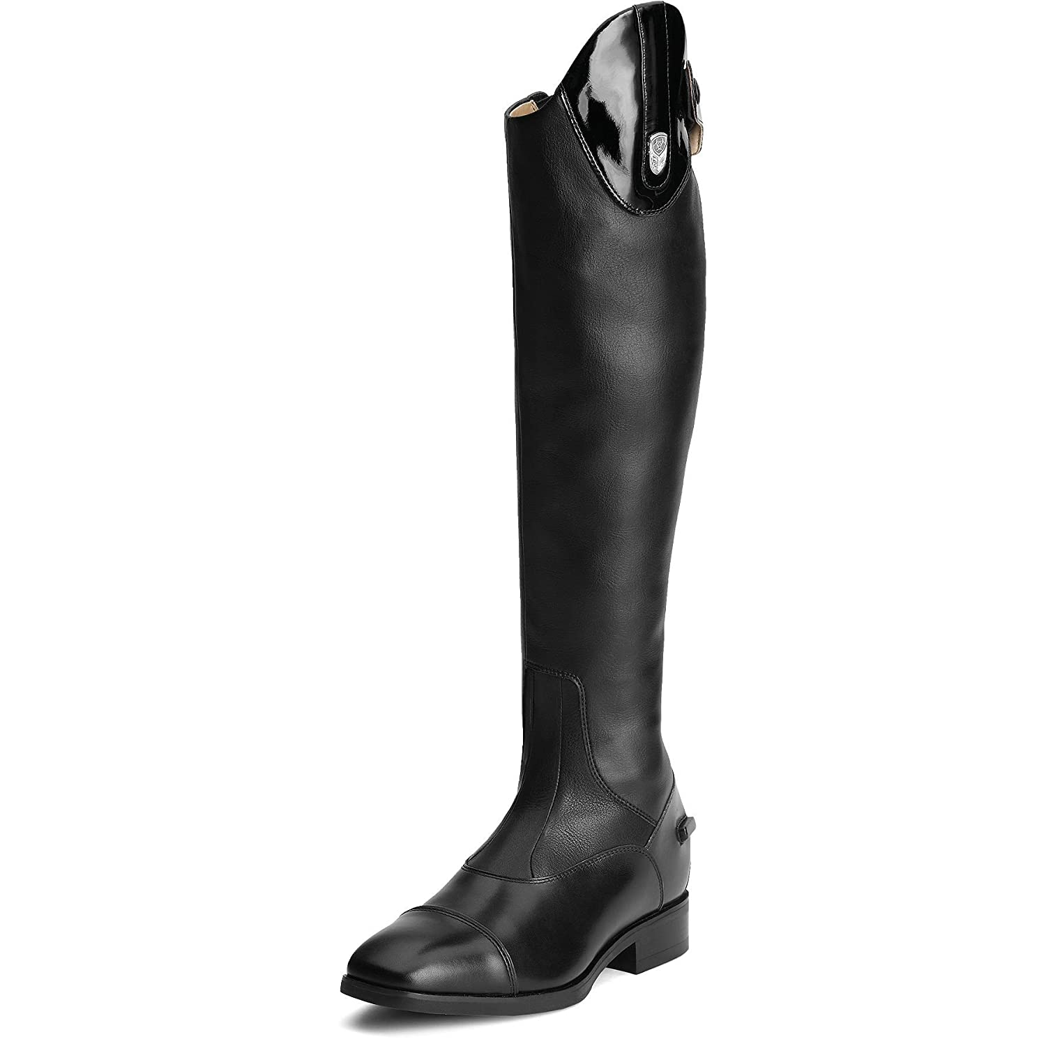 - Medium Reg Ariat Monaco pour Femme Stretch Haut – Noir Pat Adults 6.5