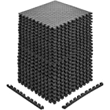 papababe Puzzle Exercise Mat with EVA Foam Interlocking Tiles for MMA Exercise, Gymnastics and Home Gym Protective Flooring (