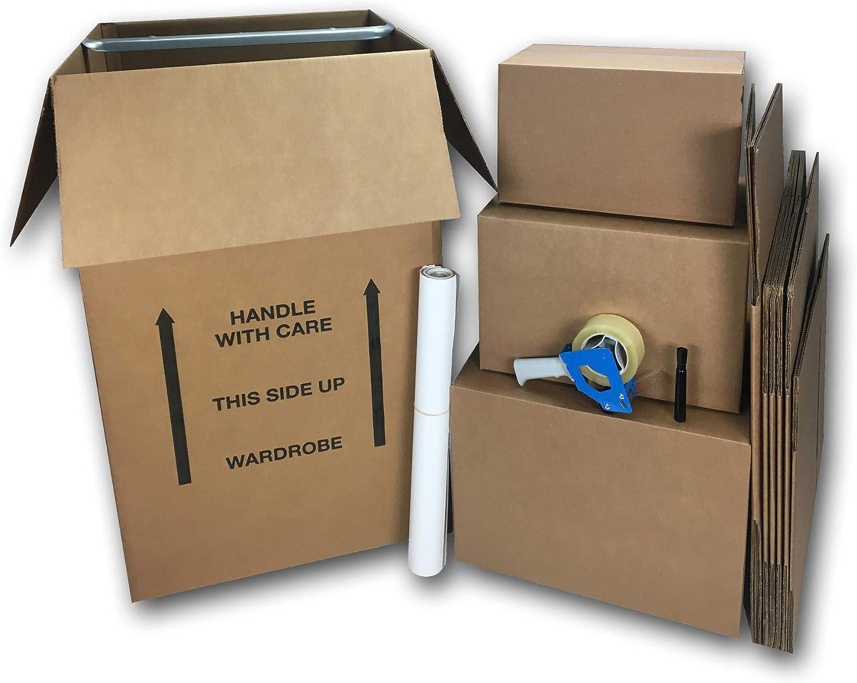 Armario mover Kit de caja 10 cajas de embalaje y movimiento suministros: Amazon.es: Oficina y papelería