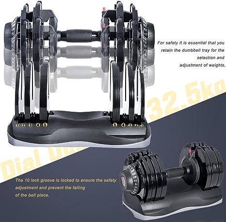 Merax Deluxe 71,5 libras ajustable Dial recubierto, Par: Amazon.es ...