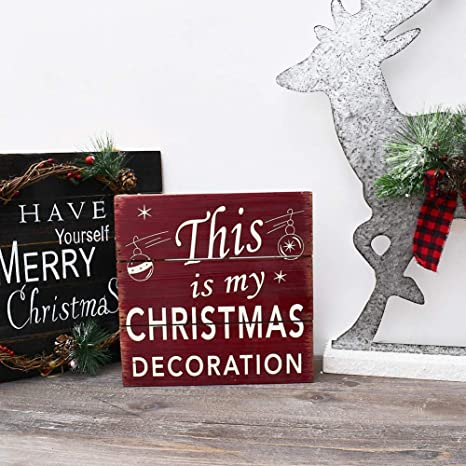 Heart wall Wooden Hanging Decoration Sign Noel Xmas christmas sign shabby chic