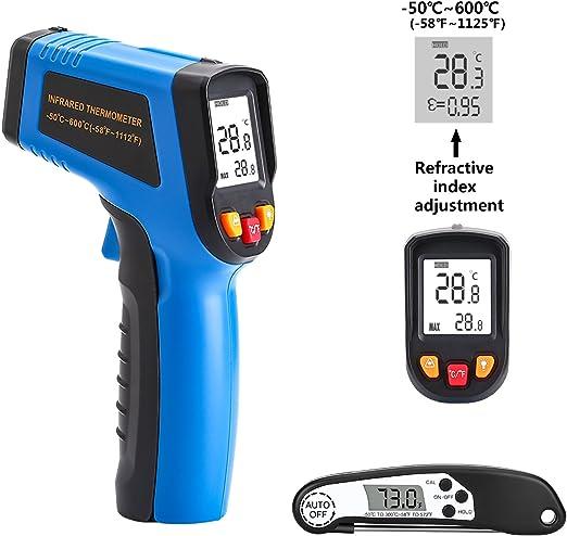 Deko termómetro de infrarrojos láser termómetro pistola (-50 °C ...