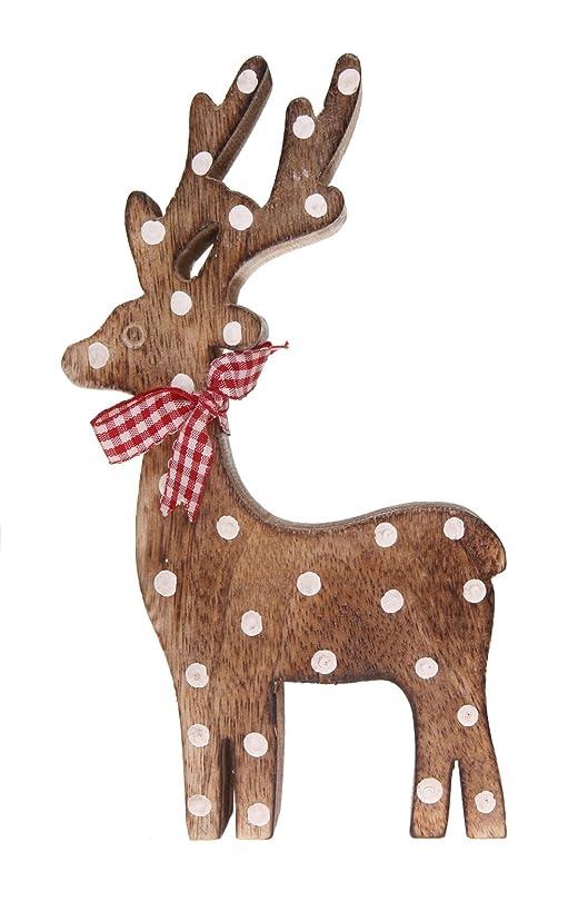 Shabby Chic Wooden Freestanding Christmas Reindeer Amazoncouk