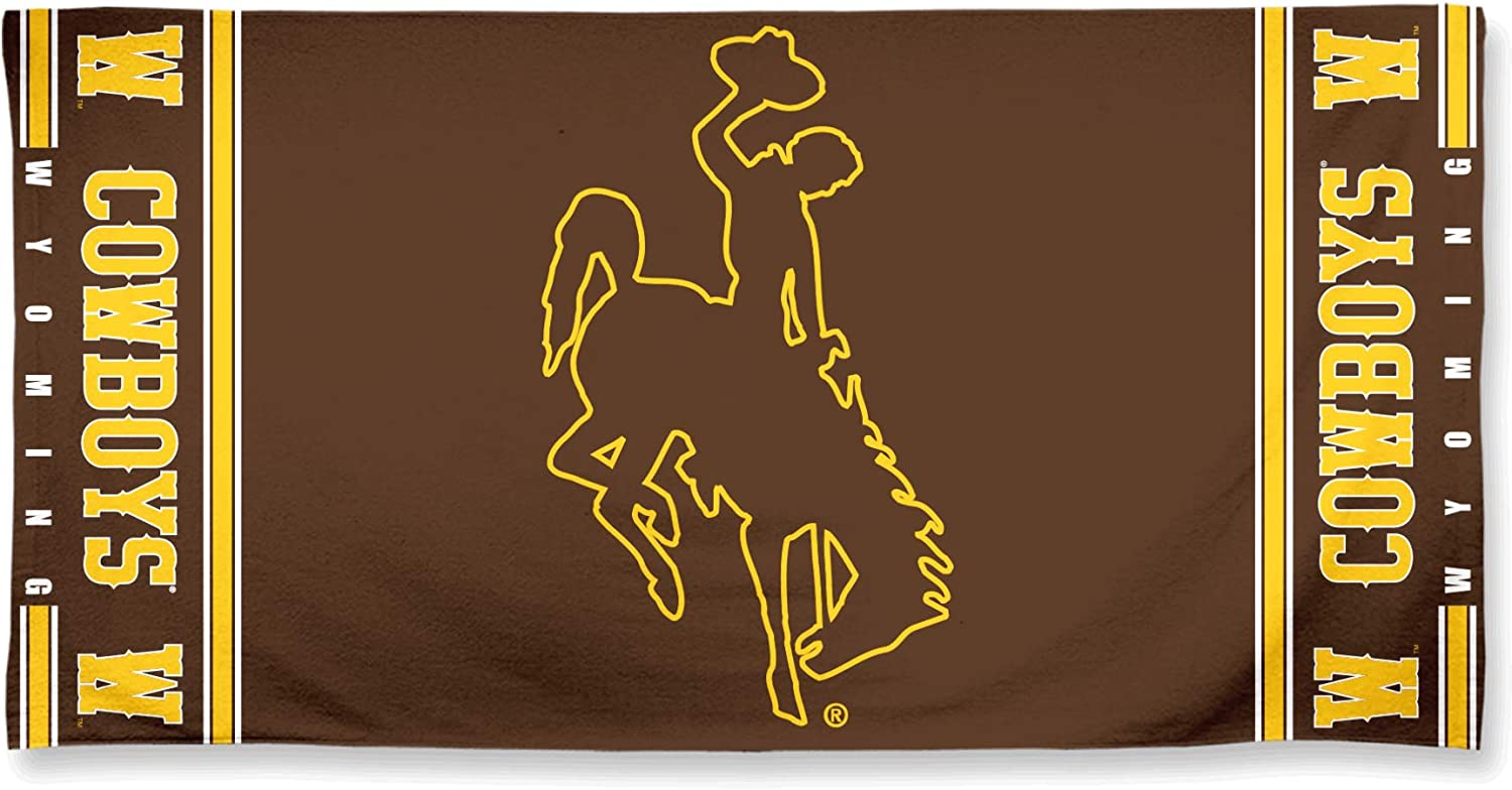 WinCraft University of Wyoming Cowboys Fiber Beach Towel 30 x 60 inches