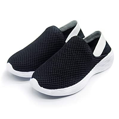 GITA Walking Shoes for Women, Slip On Breathe Mesh Fashion Sneaker Comfortable Casual Wedge Platform Loafers | Loafers & Slip-Ons