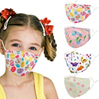 Kids Reusable Cloth Face Mask, Protection Washable Breathable Adjustable for Boys Girls Children Gift