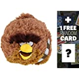 "Chewbacca: ~5"" Angry Birds Star Wars Mini-Plush Series (No Sound) + 1 FREE Angry Birds Trading Card Bundle"