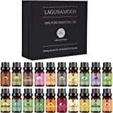 Lagunamoon Premium Essential Oils Set, 20 Pcs Pure Natural Aromatherapy Oils Lavender Frankincense Peppermint Rose Rosemary S