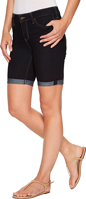 Womens Nancy Shorts Rolled in Indigo Rinse
