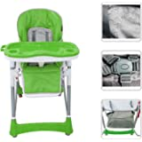 Babyfield–Silla alta ajustable para bebé–Silla de color verde con tableta para niño de 6meses a 3años