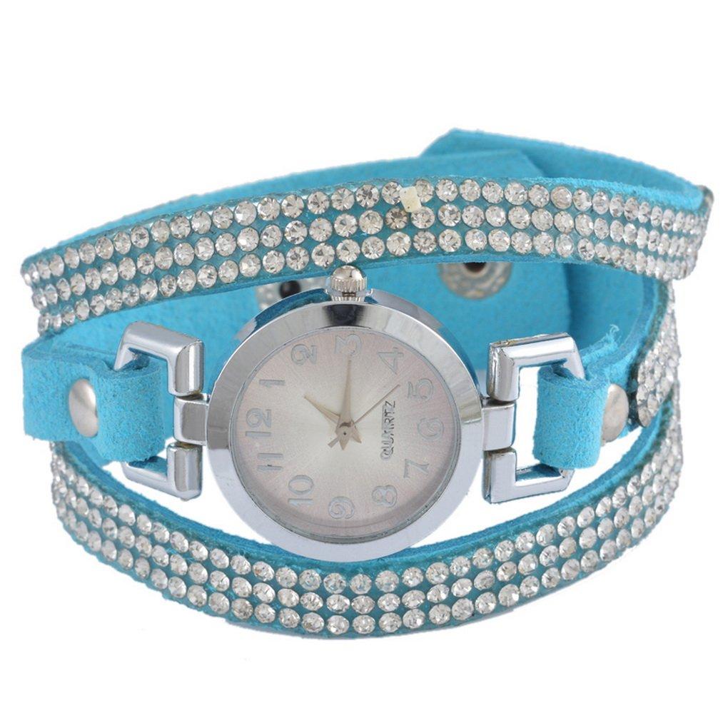 Loweryeah South Korean Velvet Strap Drill Ring Lady Rhine Stone Watch 21cm