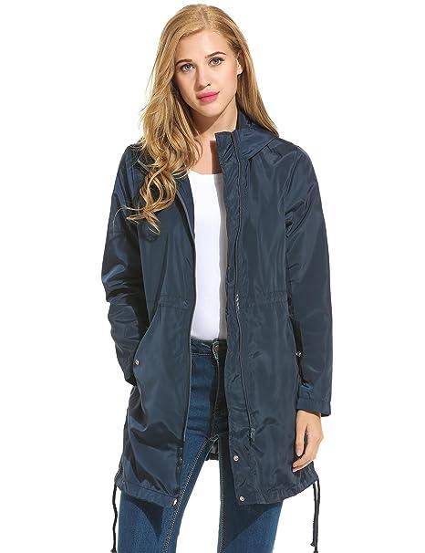 Amazon.com: Bifast chaqueta de lluvia liviana resistente al ...