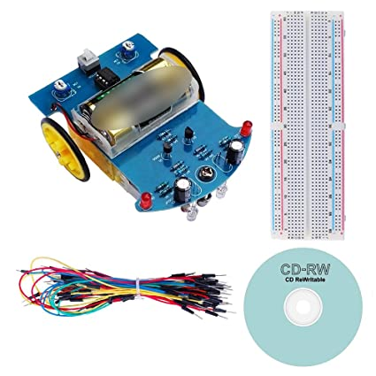 Circuitos digitales Robot Smart Car DIY electrónica Kit de soldadura (reducción Motor, función de