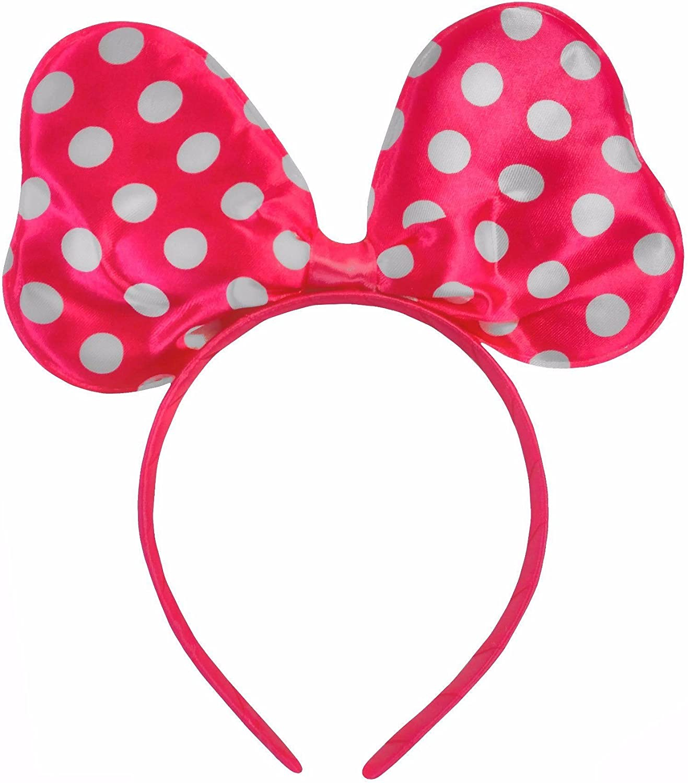 Polkadot Raso Minnie Mouse Disfraces Orejas Del Traje Negro/Blanco ...