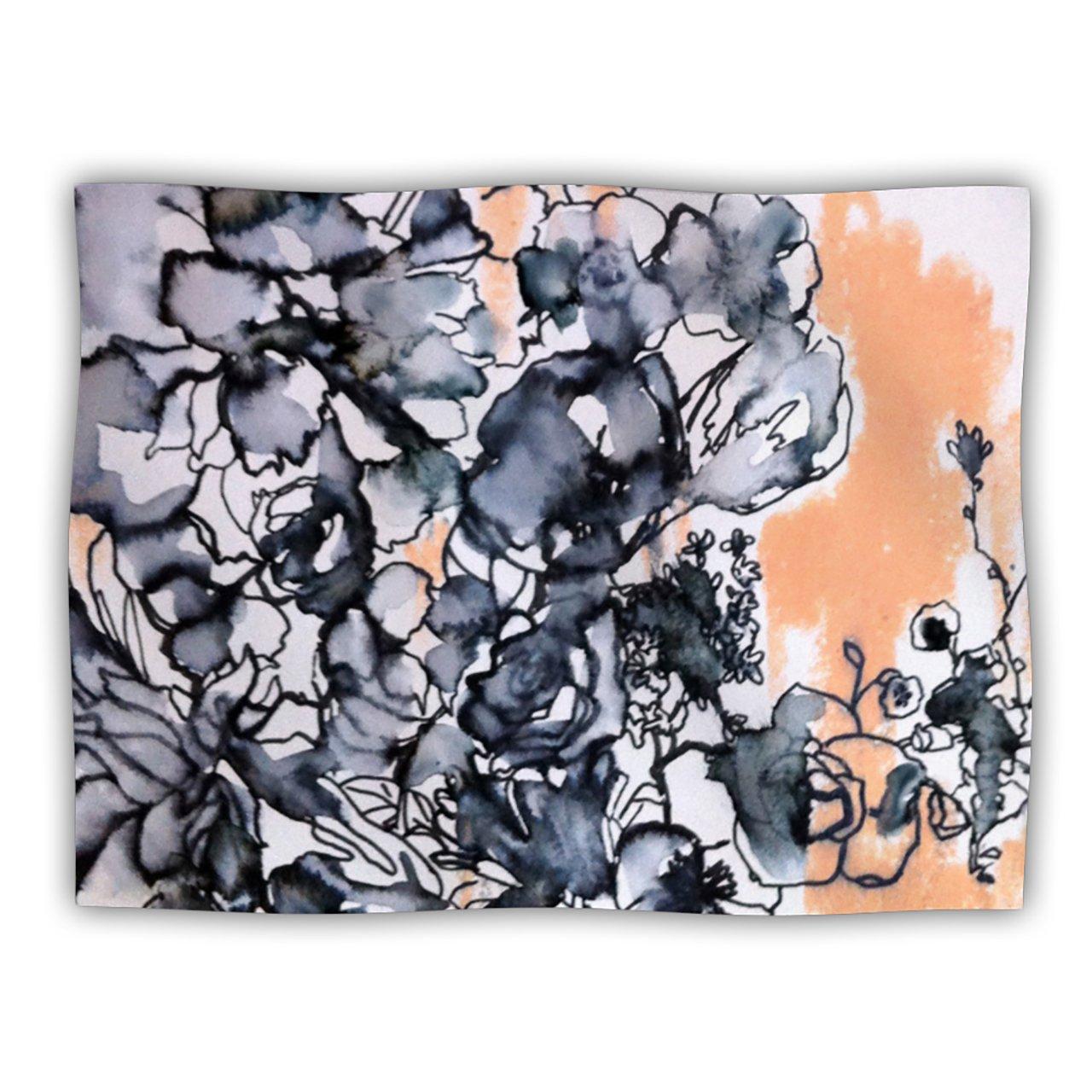 Kess InHouse Sonal Nathwani Inky Bouquet  Pet Blanket, 60 by 50-Inch