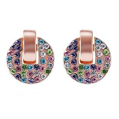 95f2640da Amazon.com: Women Stud Earrings Crystals Made with SWAROVSKI ELEMENT ...