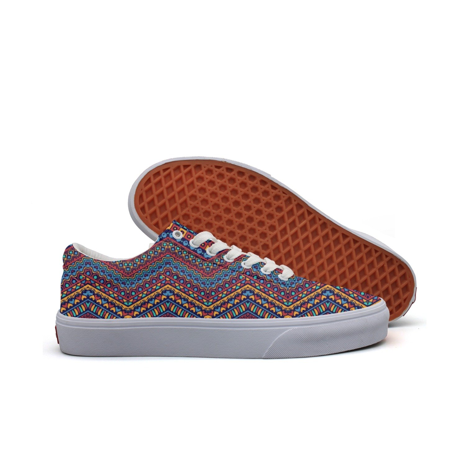 SERXO African Style Tribal Motifs Women¡s Casual Shoes Sneakers Slip-On Lo-Top Low Top Trainers