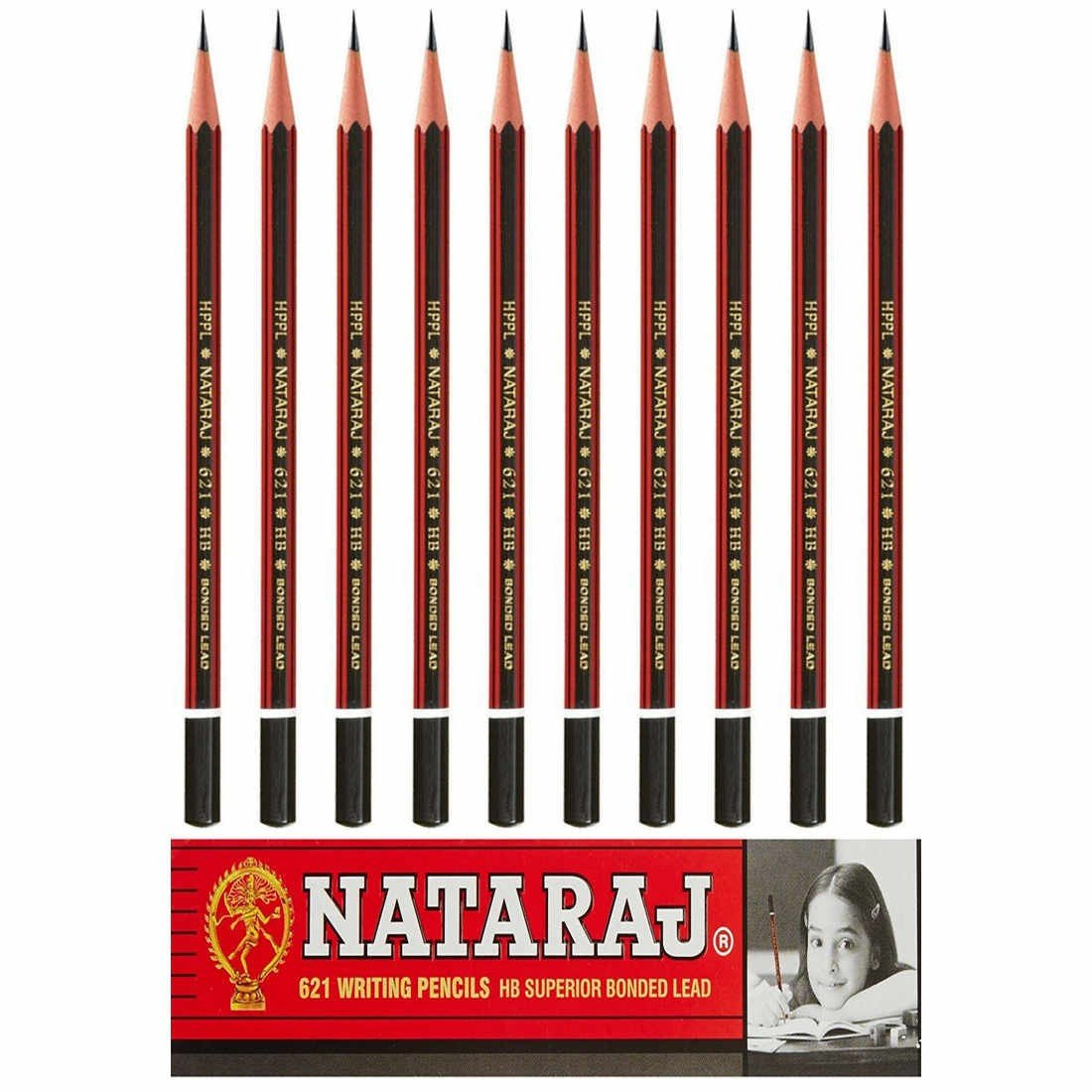 Natraj Pencil HB- Pack of 10- 100 Pieces: Amazon.in: Office Products