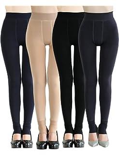 62373fab38ff63 CHRLEISURE Women's Winter Warm Fleece Lined Leggings - Thick Velvet Tights  Thermal Pants