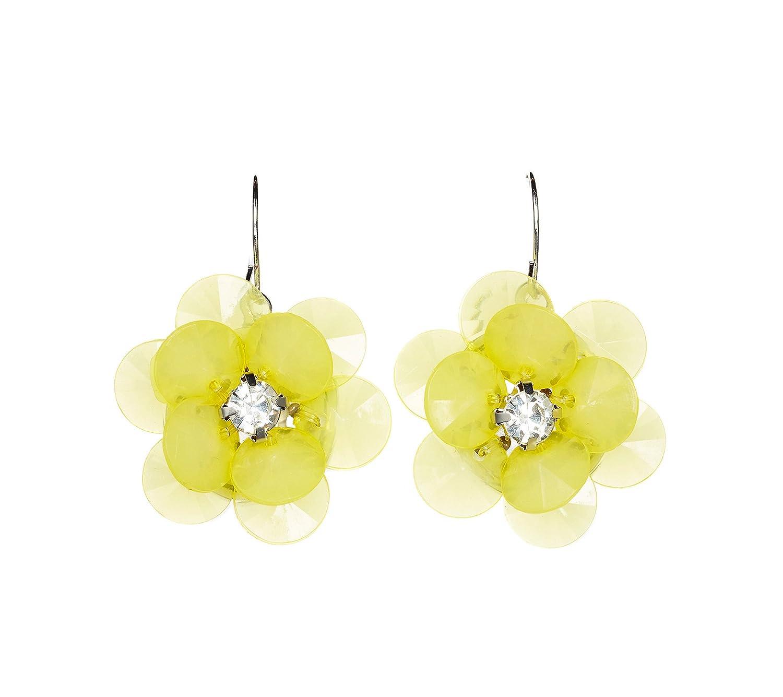 Amazon Studio Works Yellow Flower Drop Earrings Jewelry