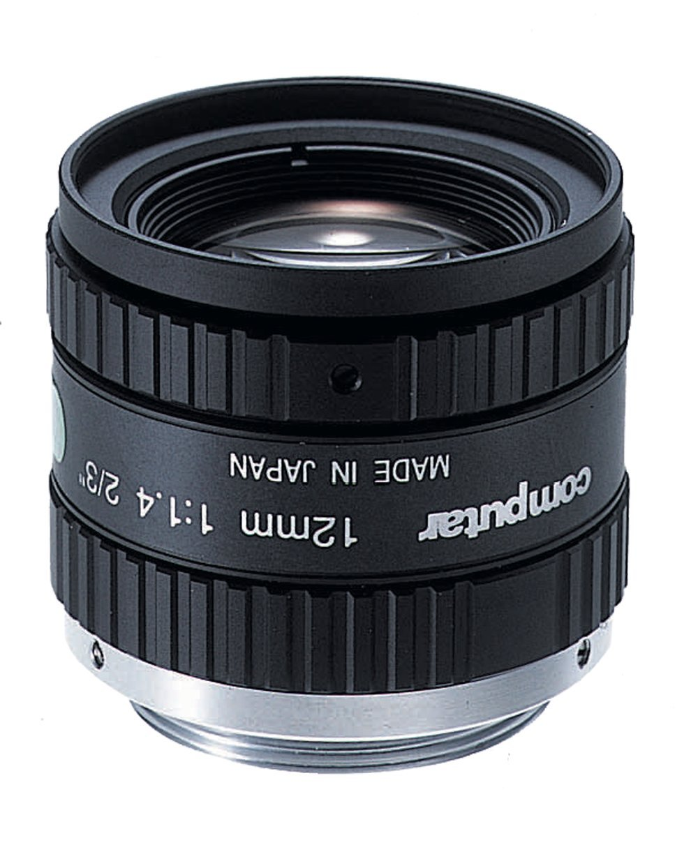 Computar M1214-MP2 2/3'' 12mm F1.4 Manual Iris C-Mount Lens, 1.5 Megapixel Rated by Computar