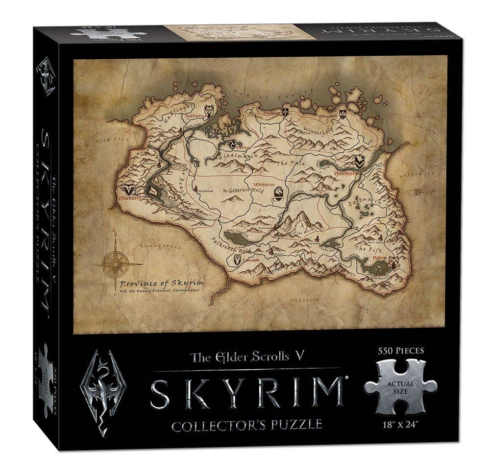 Amazoncom USAopoly The Elder Scrolls V SKYRIM Map Puzzle 550