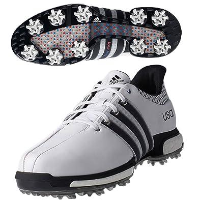 quality design c2c4a ac4a5 Adidas Tour 360 Boost Chaussures de Golf pour Homme – Blanc - Blanc - Blanc,