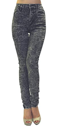 Rox Denim Women's High Waist Rise Acid Wash Jeans at Amazon ...