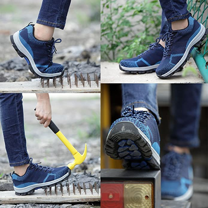 Amazon.com: WANPUL Safety Shoes for Mens Womens Steel Toe Puncture Proof Footwear Work Shoes and Construction Shoes Protect Toe Shoes: Shoes
