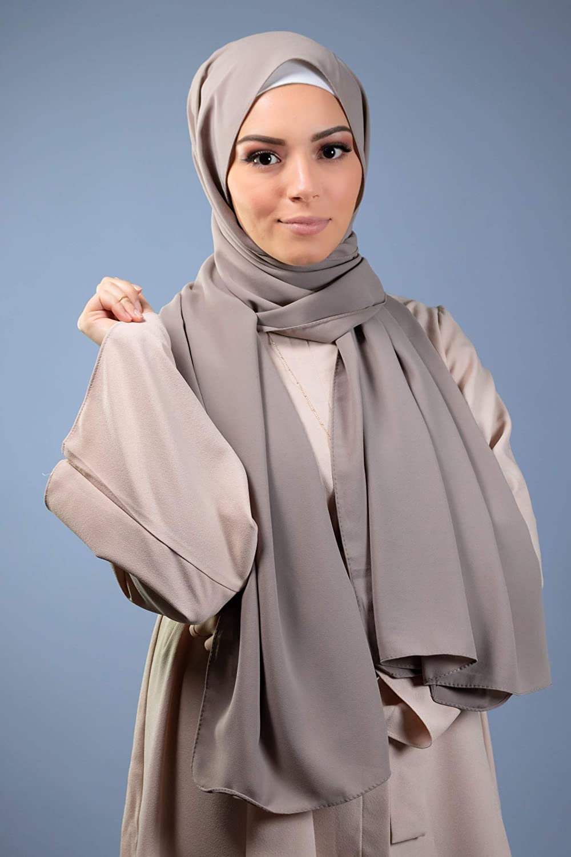 Lamis Hijab Hijab musulmana velata di seta opaca formato maxi 200 x 70 cm