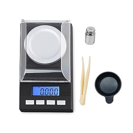 Digital de alta precisión miligramo báscula 50 G/1.7637oz capacidad, 0,001 G/