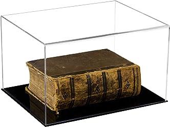 "Versatile Clear Acrylic Display Case Large Rectangle Box 18/"" x 12/"" x 3/"" A029-B"