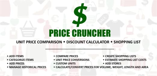 amazon com price cruncher shopping list price comparison shopping