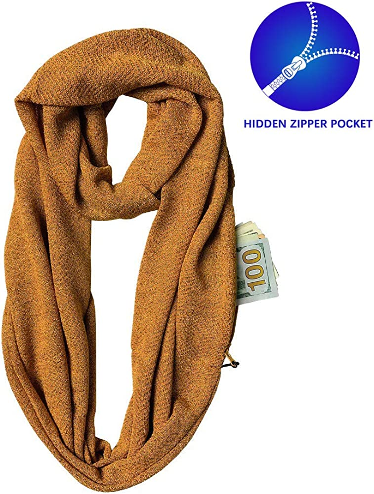 Pocket Scarf With Zipped...