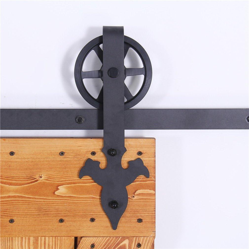 CCJH 6FT-183cm Rueda Grande Herraje para Puertas Kit de Accesorios ...