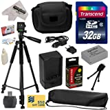 """Must Have Accessory Kit for Canon PowerShot G1X G16 G15 SX50HS SX40HS SX50 SX40 HS Digital Camera Includes 32GB High-Speed SDHC Card + Card Reader + Opteka NB-10L 1800mAh Ultra High Capacity Li-ion Battery Pack + Rapid Charger + Deluxe Padded Carrying Case + Professional 60"""" Tripod + Lens Cleaning Kit including LCD Screen Protectors Photo Print"""