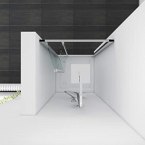 Reversible plegable mampara de ducha cubículo puerta de cristal ducha almacenaje SET + bandeja de piedra, 700mm door only: Amazon.es: Hogar