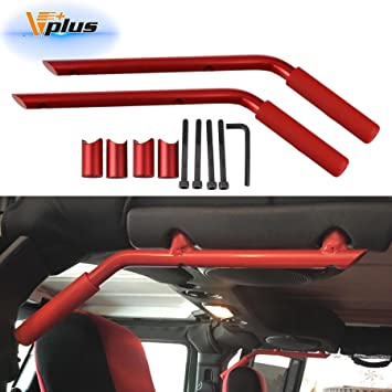 Red Pair AMERICAN MODIFIED Jeep Wrangler Grab Bar Grab Handles Door Handle Rear Grab Handle Jeep Wrangler Accessories JK JKU /& Unlimited Rubicon Sahara Sports,2007-2018