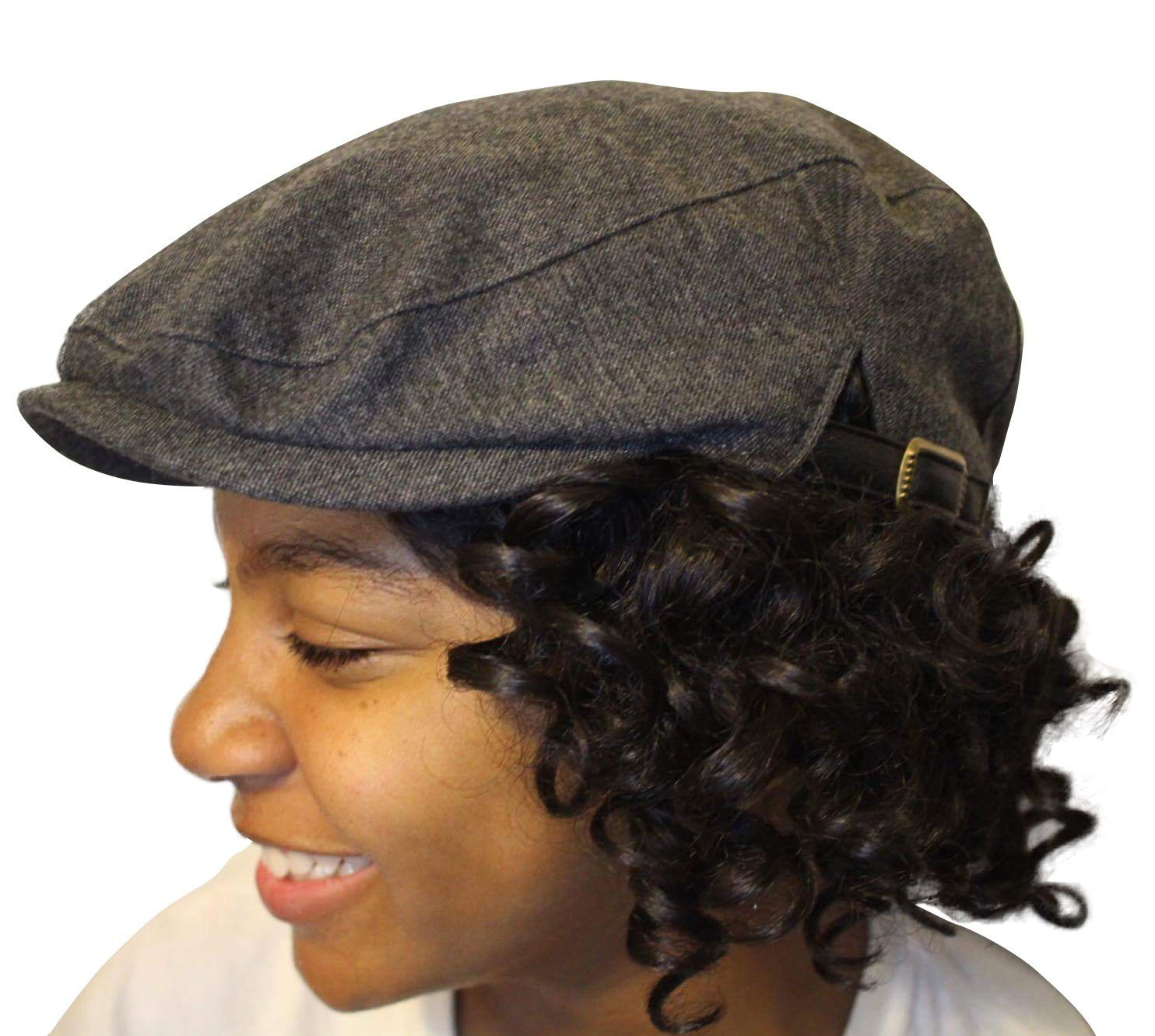 Always Eleven Satin Lined Newsboy Hat with Adjustable Straps (S/M, 57 cm)(Grey) by Always Eleven