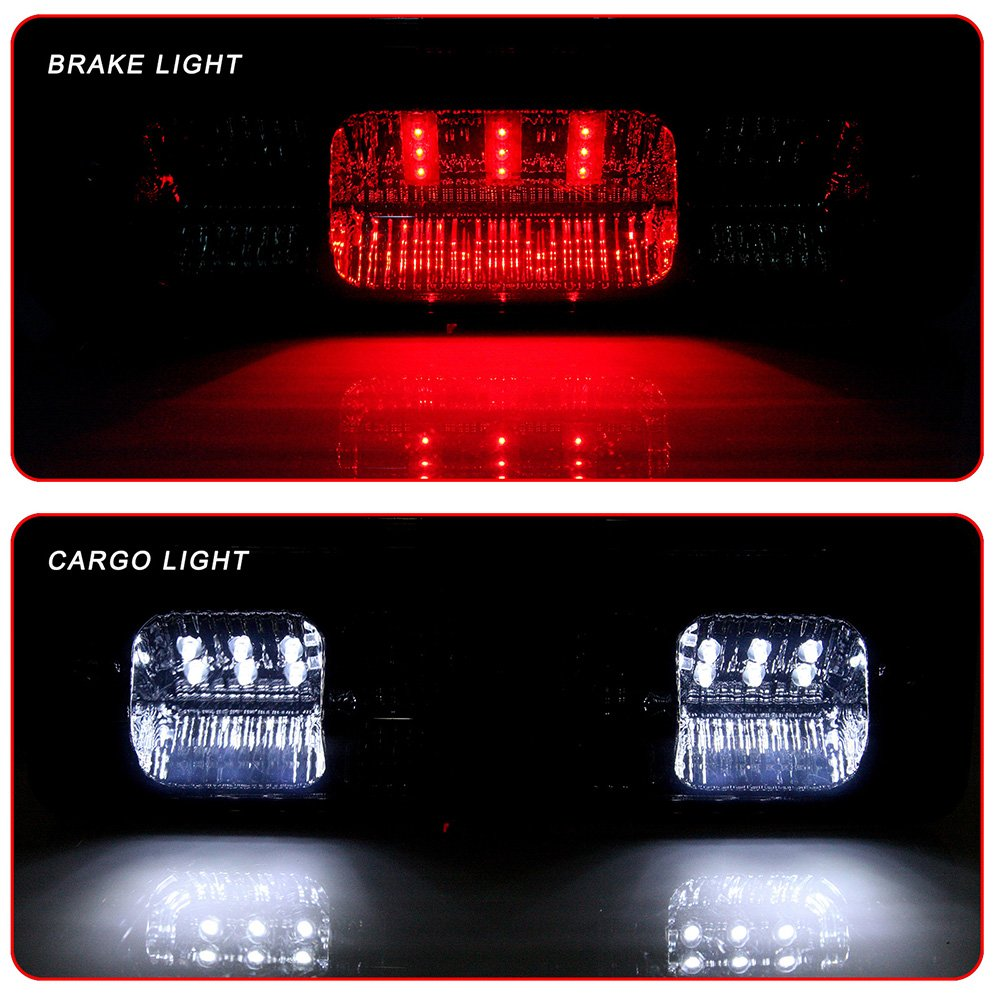 HIgh Mount Brake Lights LED 3rd Brake Lights Cargo Lamp Assembly Automotive Tail Lights Red Lens Replacement fit for 2004-2008 ford F-150 2007-2010 ford Explorer Sport Trac 2006-2008 Lincoln Mark LT