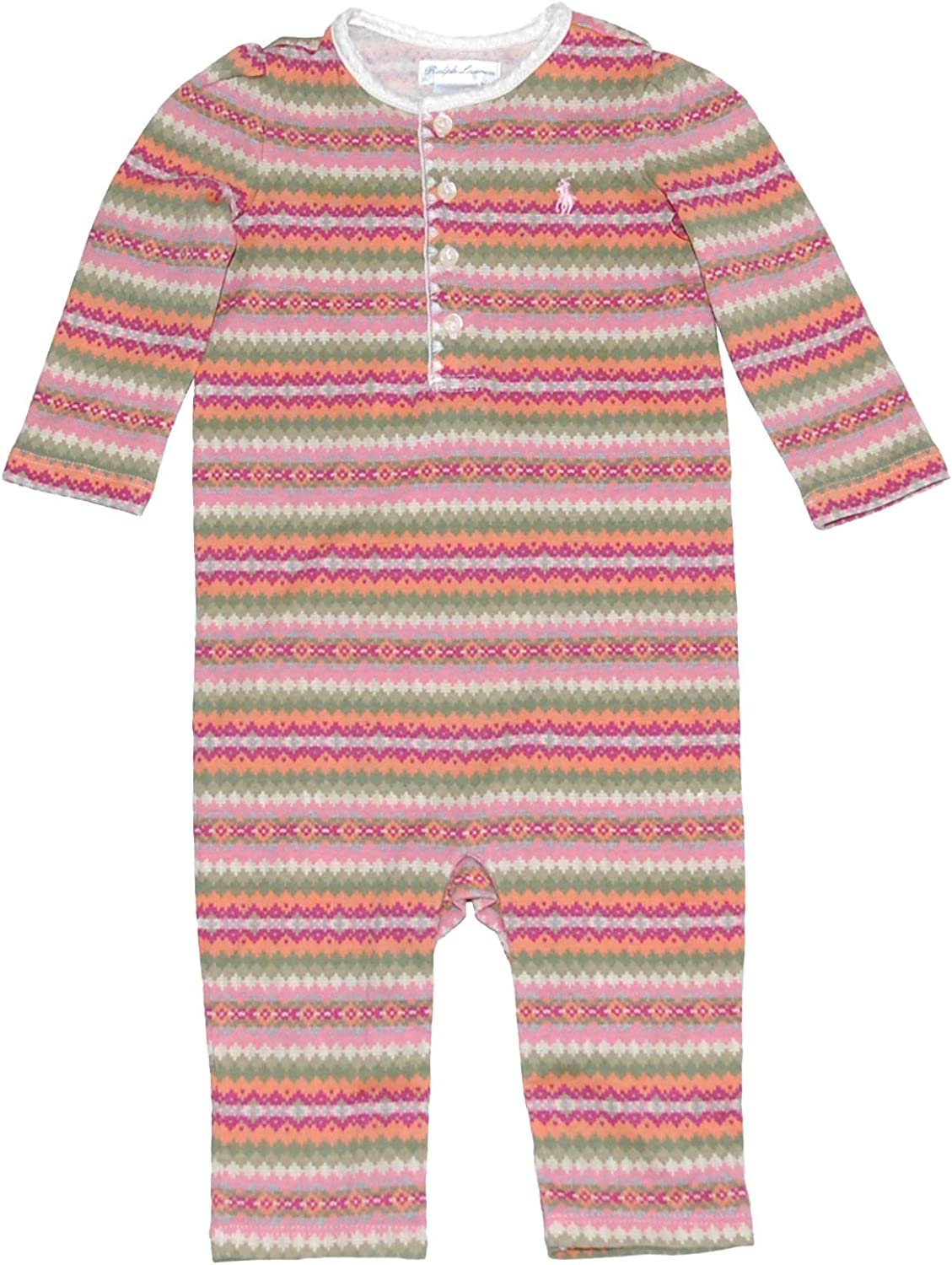 Ralph Lauren Polo Baby Girls Fair Isle Henley Coverall