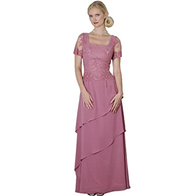 08ec02c14b7a9 Rose Chiffon Formal Evening Dress - Mother of Bride & Groom Dress. Mothers Dress  Gown