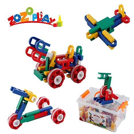 089c9bbf7 Image Unavailable. Image not available for. Color  ZoZoplay STEM Learning  Toy Engineering Creative Construction Building Blocks Kids Educational ...