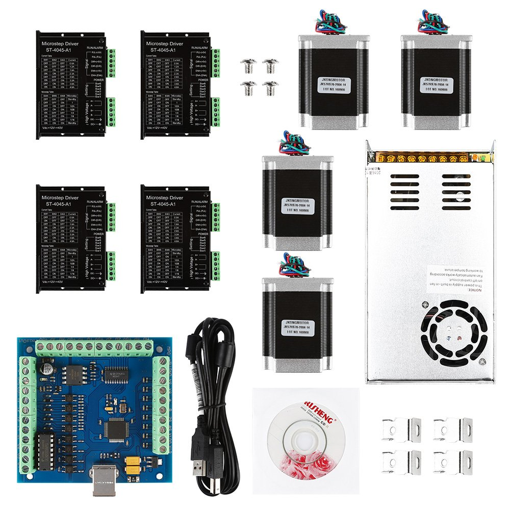 Sainsmart Cnc 4 Axis Kit With St 4045 Motor Driver Usb Controller Fire Inc Restaurant System Parts Ansulstyle Dpdt Microswitch Card Nema23 Stepper And 24v Power Supply 6