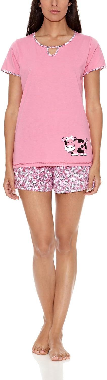 KUMY Pijama Mujer Vaquita Rosa M: Amazon.es: Ropa y accesorios