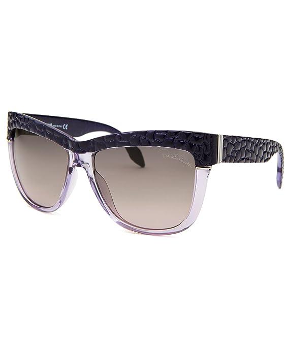 Roberto Cavalli Womens Rea Wayfarer Sunglasses, Lavender Translucent/Purple, 58-15-135