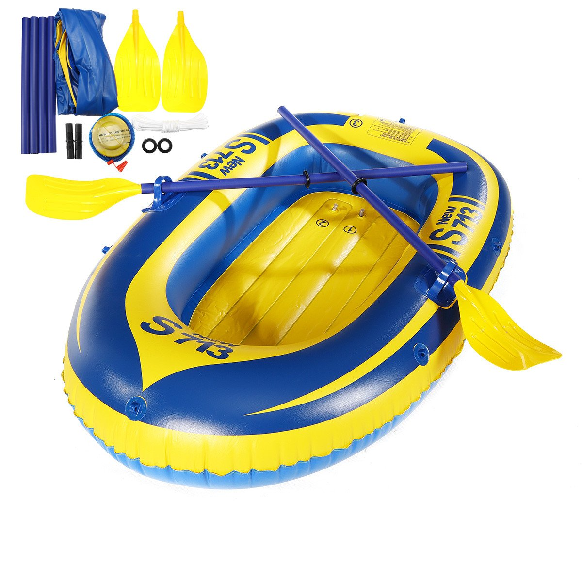 Slimerence Inflatable Boat Set, 1-Person Fishing Swimming Water Sports Inflatable Boat Kayak by Slimerence
