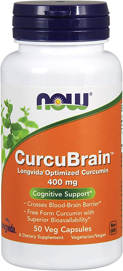Amazon.com: Cápsulas CurcuBrain de Now Foods con ...