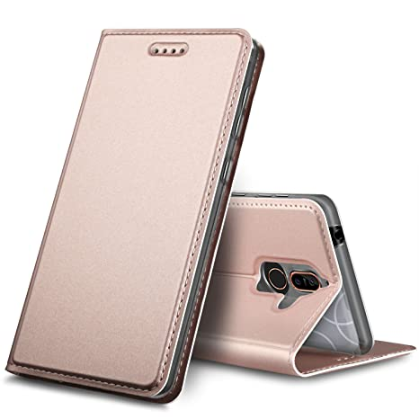 Coque Nokia 7 Plus, GeeMai Nokia 7 Plus Flip Coque Premium PU Cuir  Portefeuille Étui